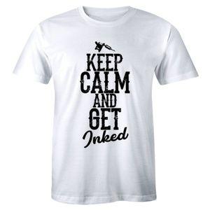 Keep Calm And Get Inked Pro tat Tattoo Gun T-shirt